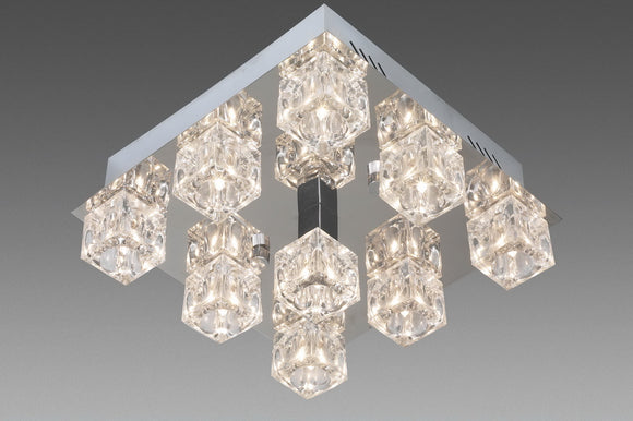 Epic B3035-9  Eco Led Ascot Crystal / Glass ceiling  9 light