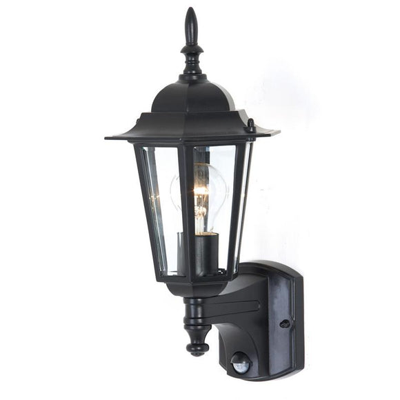 Tilbury 1 light sensor exterior wall lantern black