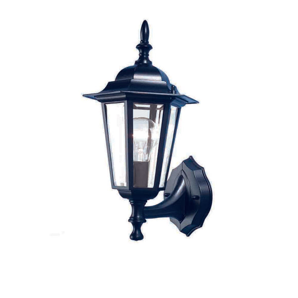 Tilbury 1 light wall bracket black exterior black
