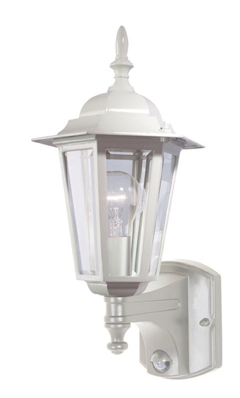 Tilbury 1 light sensor exterior wall lantern white