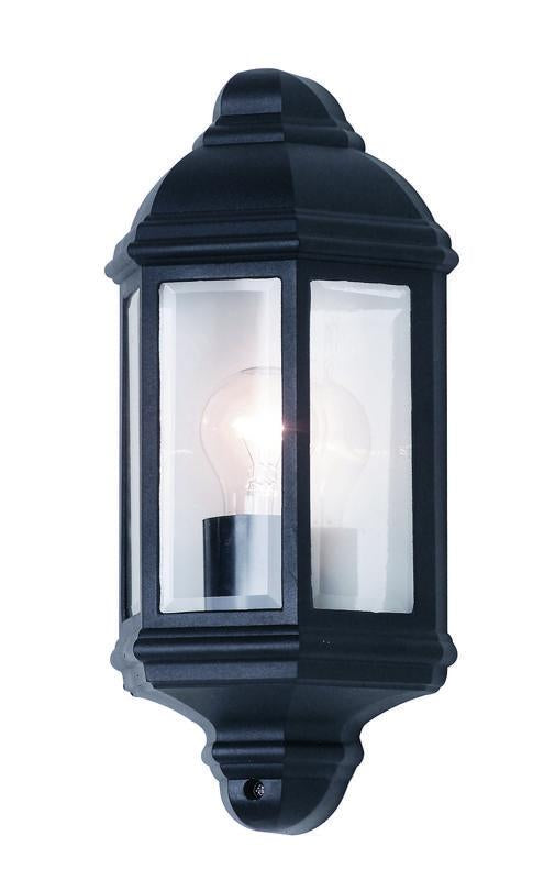 Nepean 1 light half wall exterior black