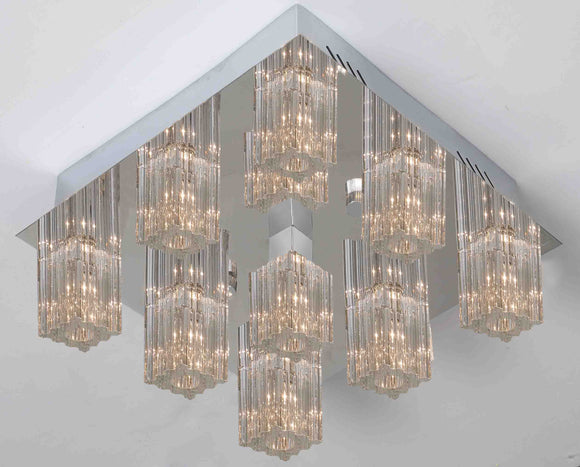 Epic Lucy 9 light ECO LED crystal ceiling lights