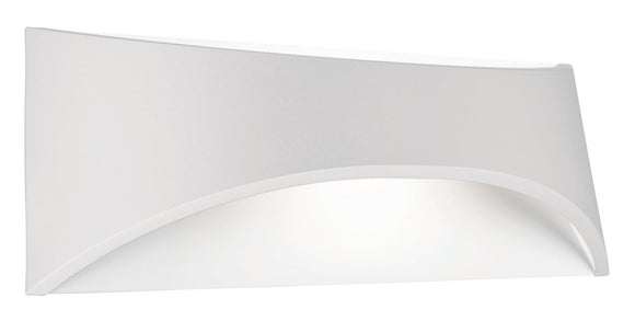 Wells 6W LED exterior wall light white