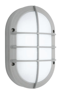 Felix 6W LED exterior oval with grill silver