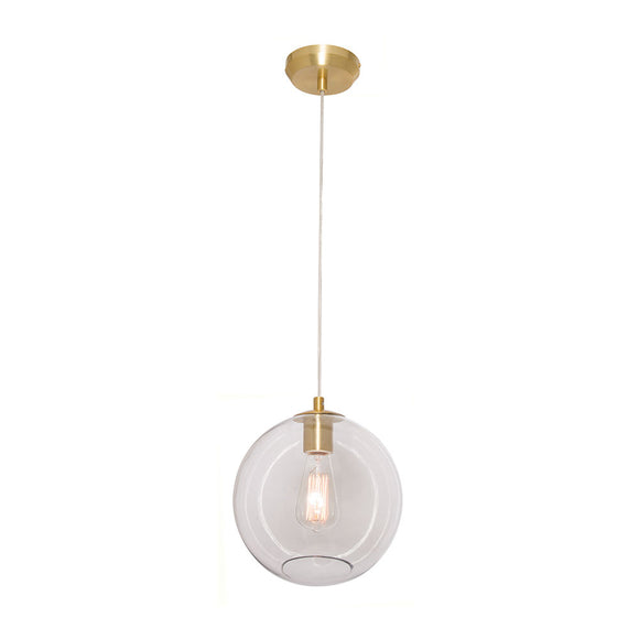 Milan 1 light pendant black
