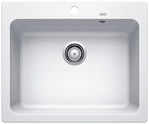 Blanco NAYA6WK5 white single bowl inset sink
