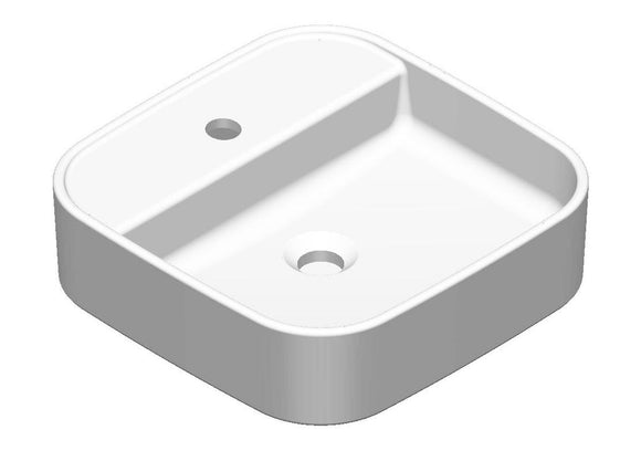 Argent Grace Square Counter Top Basin 1 tap hole