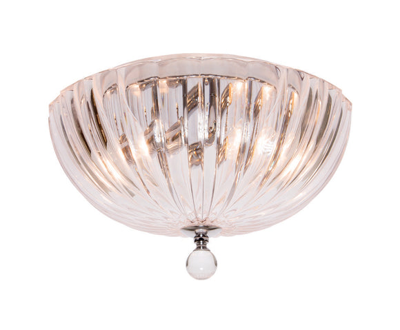 Potenza small 2 light pendant clear