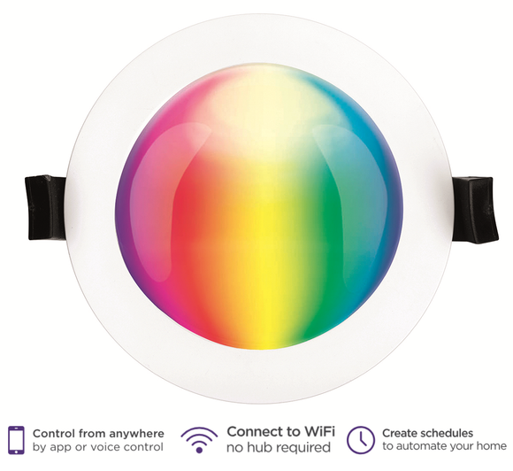 Brilliant Smart Lighting 10W Prism RGB + White Downlight