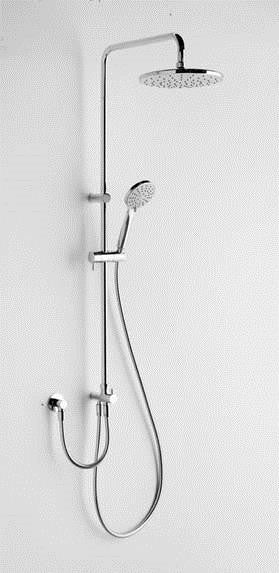 Argent Metro Twin Hose Shower System 9LPM