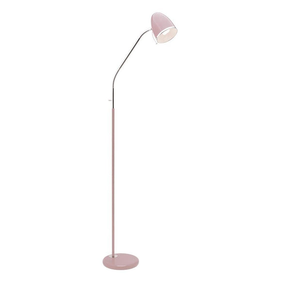 Sara 1 light E27 floor lamp blush