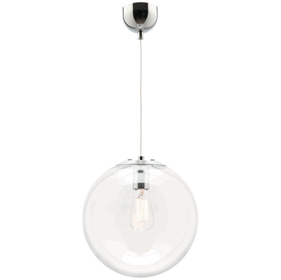 Toledo 1 light pendant 40cm chrome