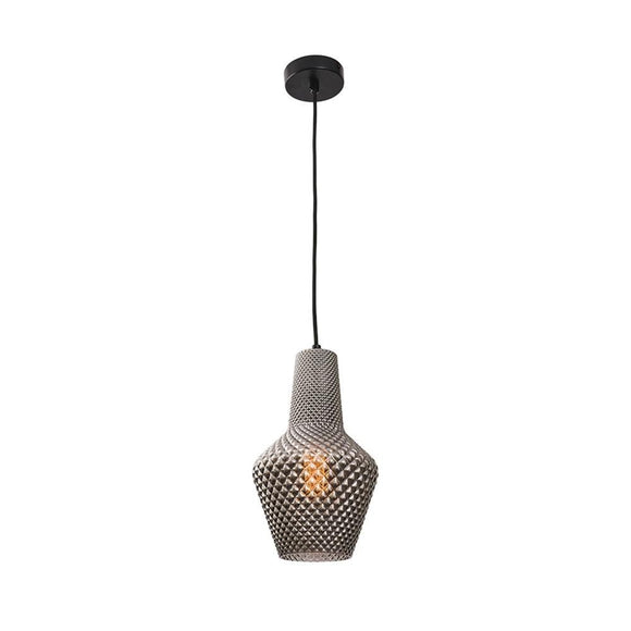 Alba 1 light pendant small smoke
