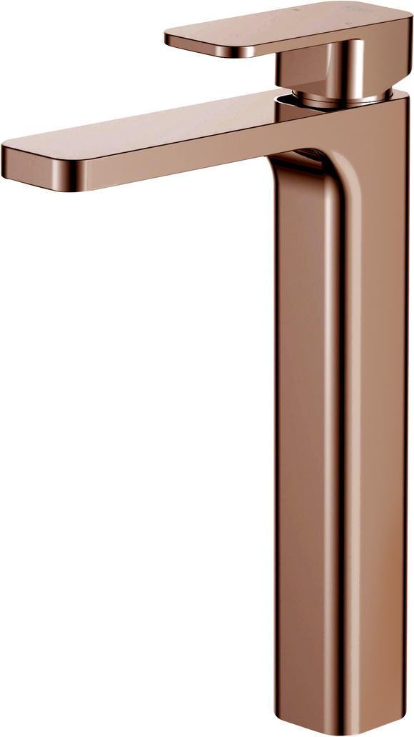Argent Kubic Vessel Basin Mixer Rose Gold