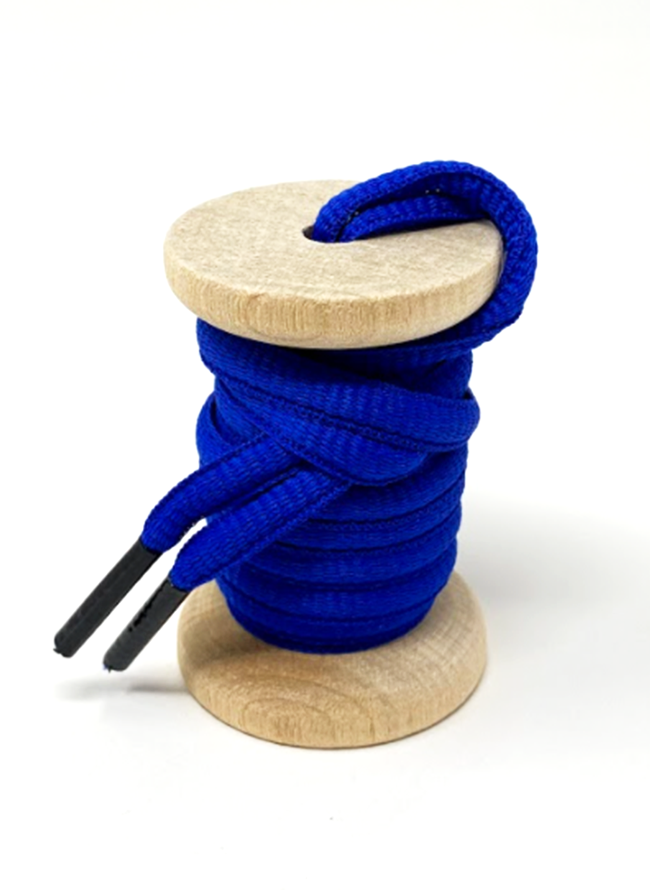 Solid Blue Athletic Sneaker Laces