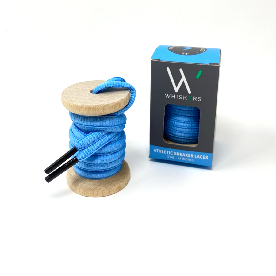 Solid Light Blue Athletic Sneaker Laces