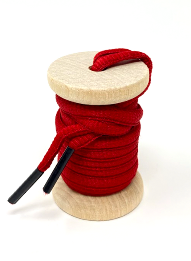 Solid Red Athletic Sneaker Laces 1