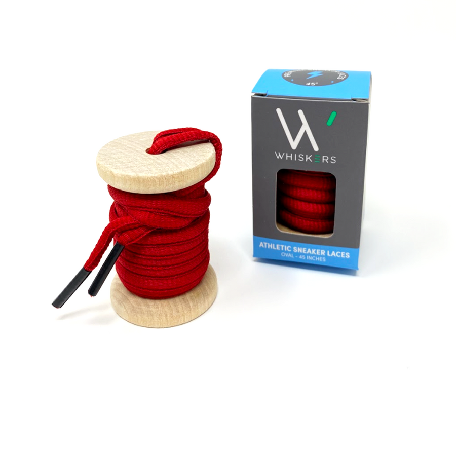Solid Red Athletic Sneaker Laces