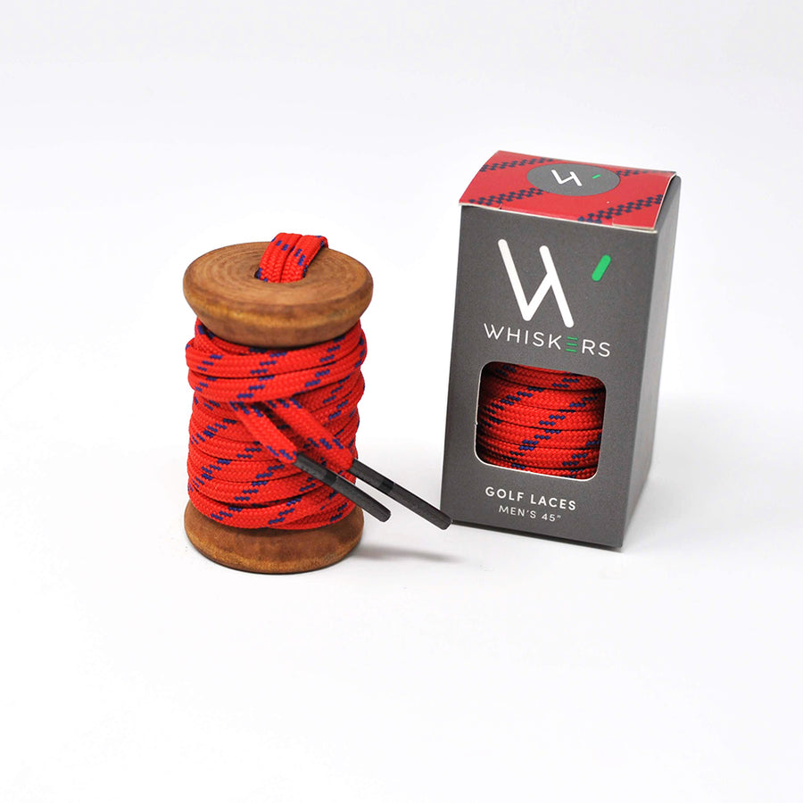 Red & Navy Athletic Flat Golf Laces