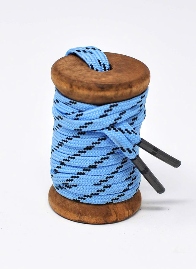 Light Blue & Black Athletic Flat Golf Laces