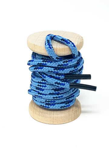 Blue, Light Blue & Navy Boot Laces