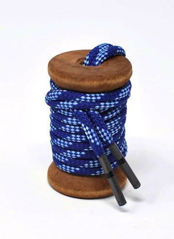 Navy & Light Blue Classic Round Golf Laces