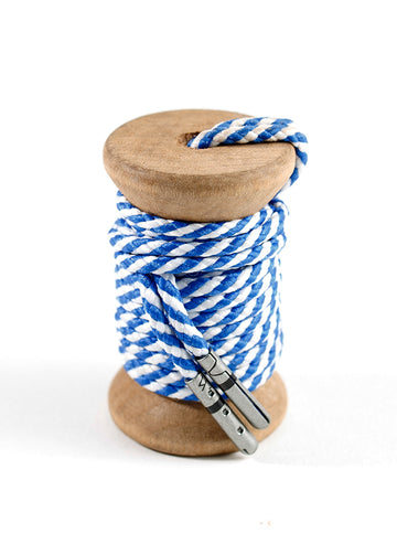 Blue & White Striped Dress Laces