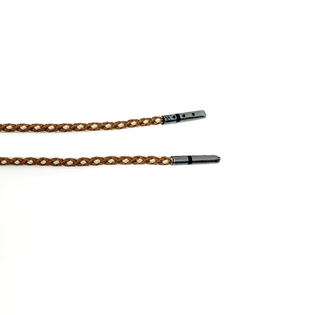 Brown & Tan Braided Dress Laces 1