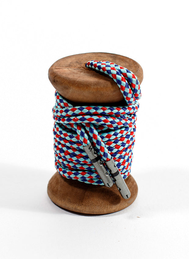 Celeste, Navy & Red Braided Dress Laces 1
