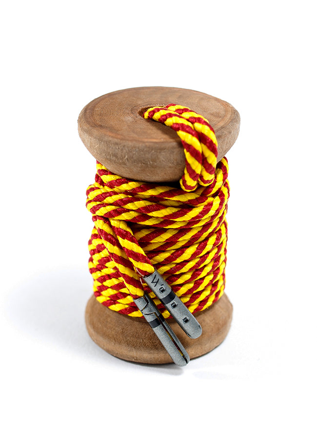 Crimson & Yellow Striped Dress Laces