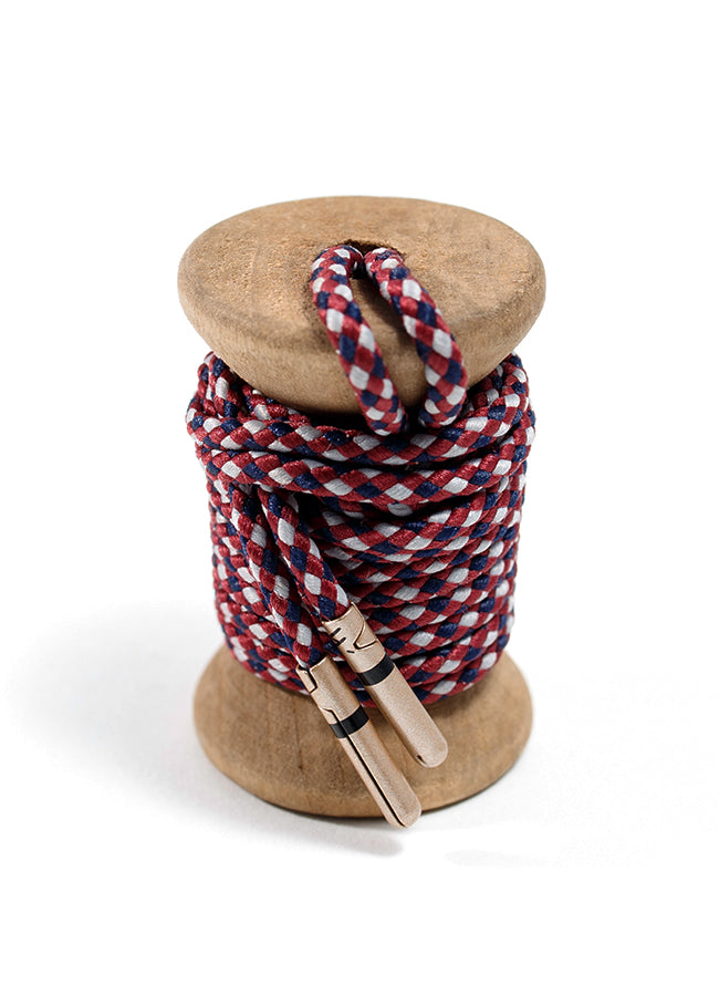 Garnet, Navy & Gray Braided Dress Laces