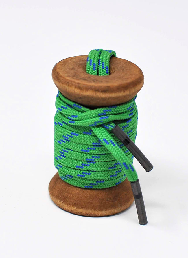 Green & Blue Athletic Flat Golf Laces