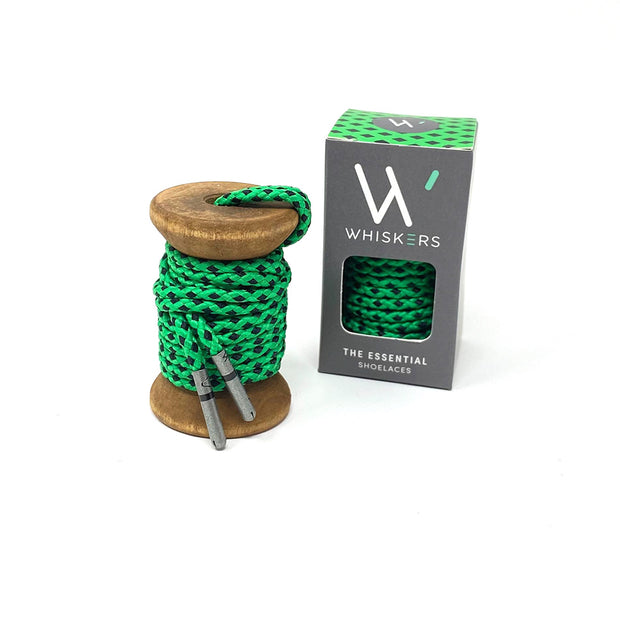 Green & Black Braided Dress Laces 1