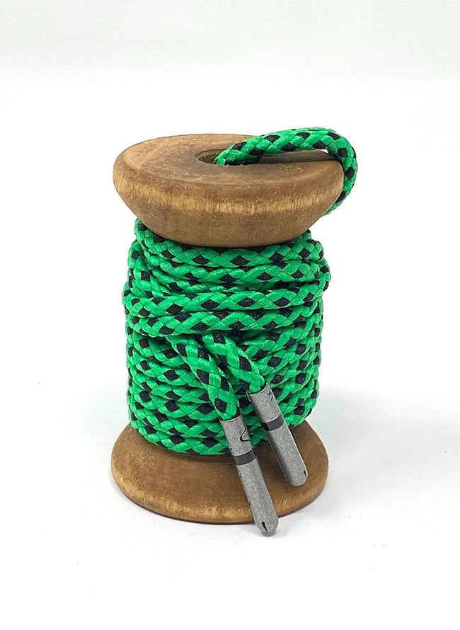 Green & Black Braided Dress Laces