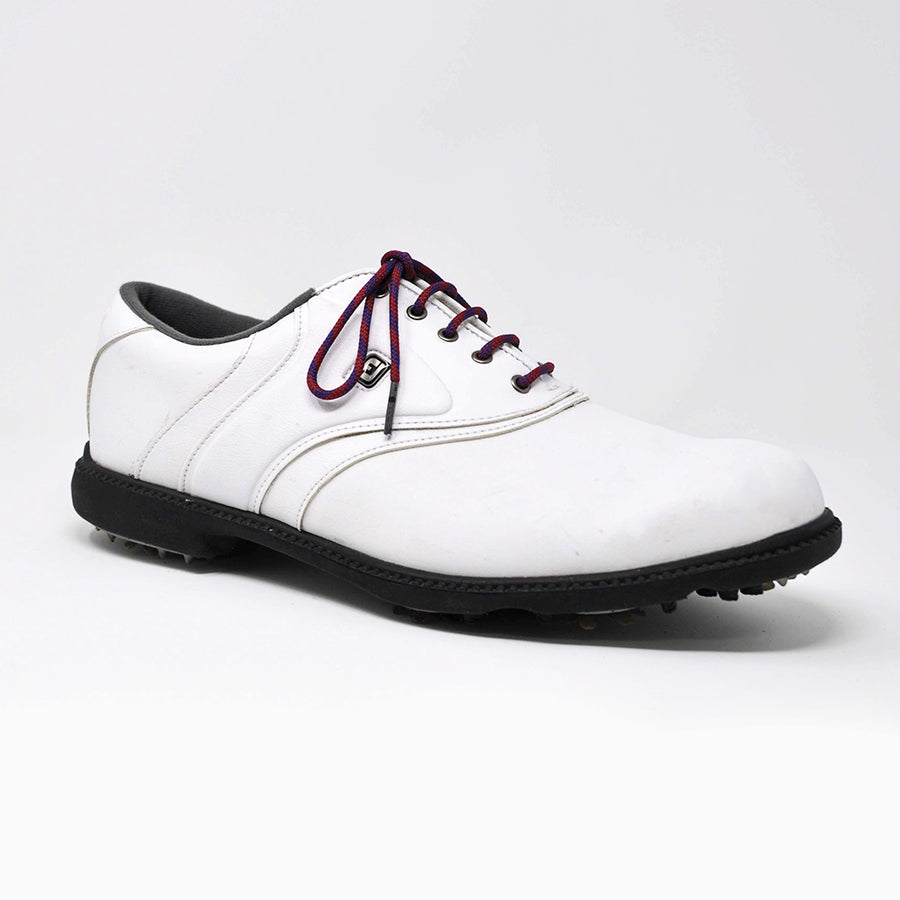Garnet & Navy Classic Round Golf Laces