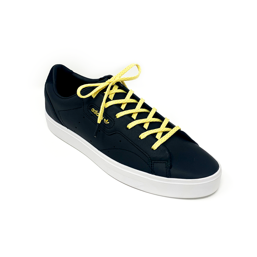 Maize & Lavender Flat Ticked Sneaker Laces