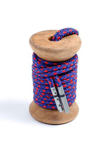 Navy & Red Braided Dress Laces