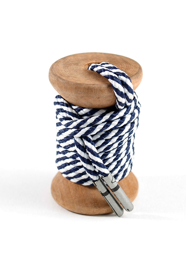Navy & White Striped Dress Laces