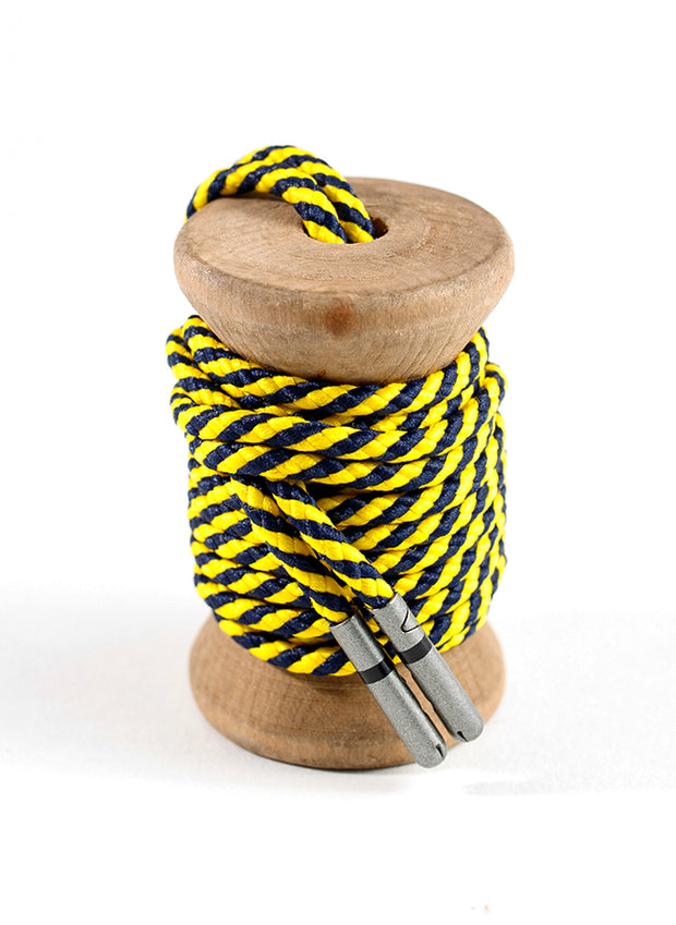 Yellow & Navy Striped Dress Laces 1