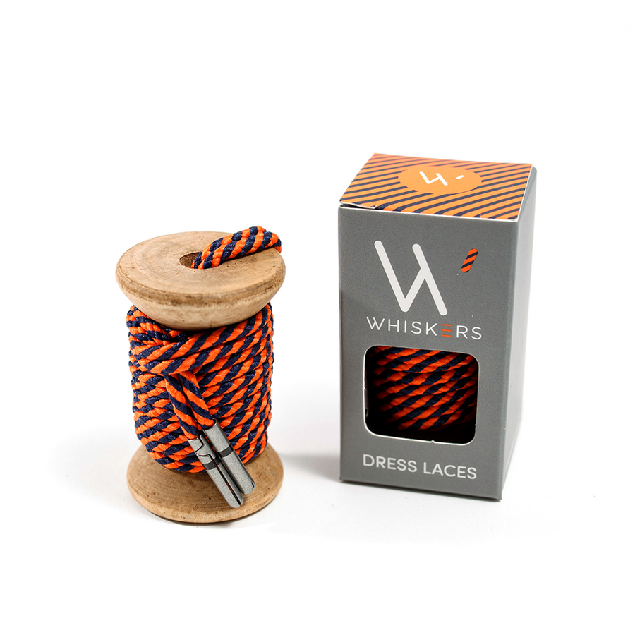 Navy Orange Striped Whiskers 33