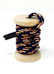 Navy & Peach Boot Laces 1