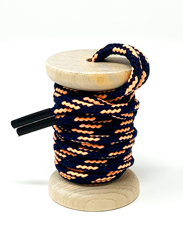 Navy & Peach Boot Laces