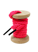 Neon Pink & Red Flat Ticked Sneaker Laces 1