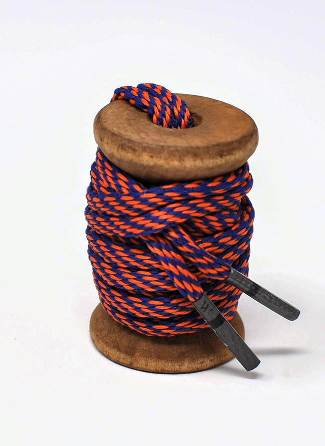 Orange & Navy Athletic Oval Golf Laces