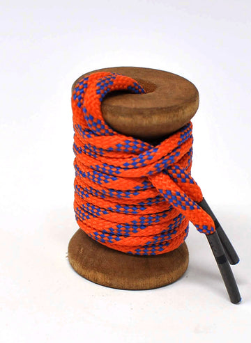 Orange & Blue Classic Round Golf Laces