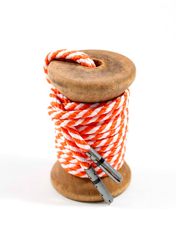 Orange & White Striped Dress Laces