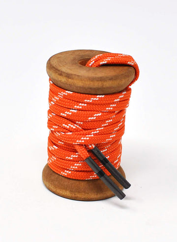 Orange & White Athletic Flat Golf Laces