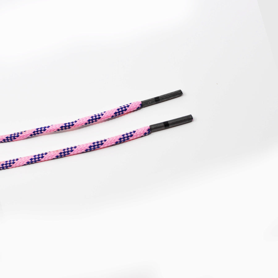 Pink & Navy Classic Round Golf Laces