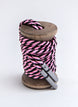 Pink & Black Striped Dress Laces 1