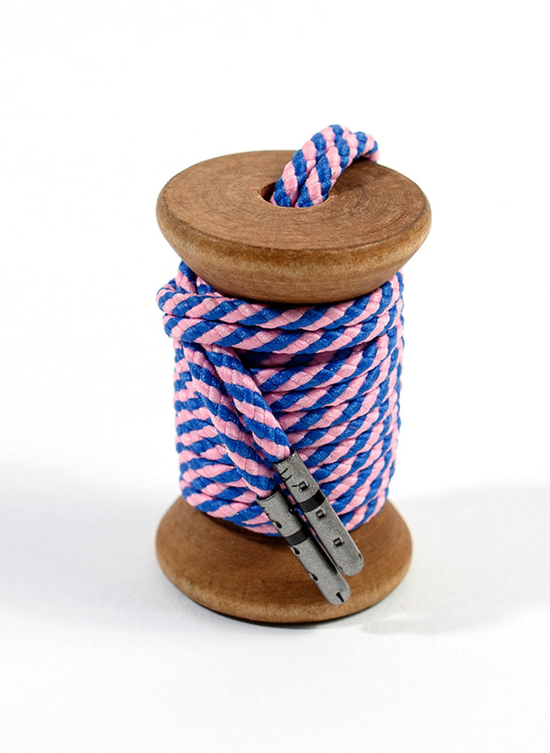 Blue & Pink Striped Dress Laces 1